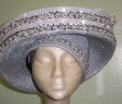 Silver Satin Hat